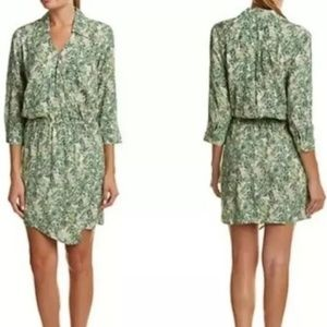 NWT CAbi #280 Leaf Print Faux Wrap Dress sz M